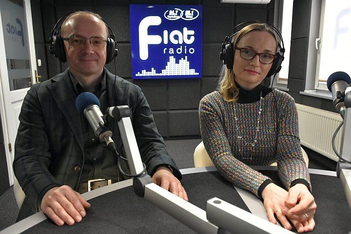 Agnieszka Fiuk i ks. dr Tomasz Knop/Fot. Radio Fiat Zbyszek Derda