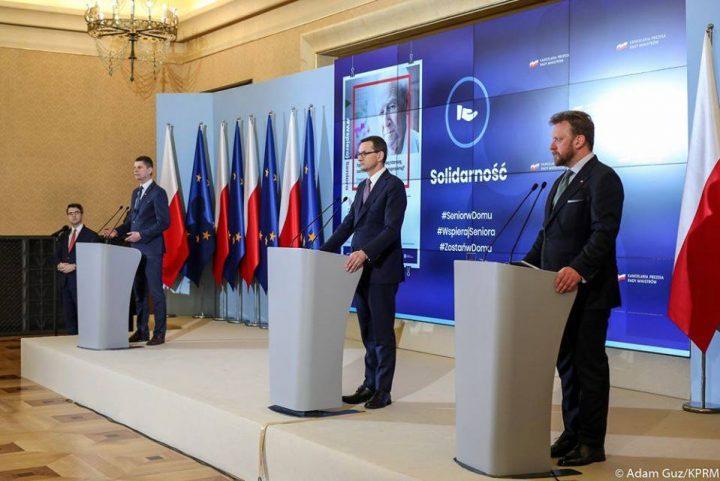 konferencja prasowa 20 marca 2020/źródło fot. profil fb premiera Mateusza Morawieckiego