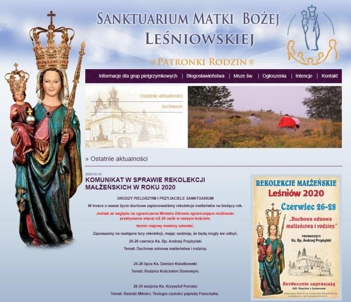Zaproszenie na rekolekcje w Leśniowie