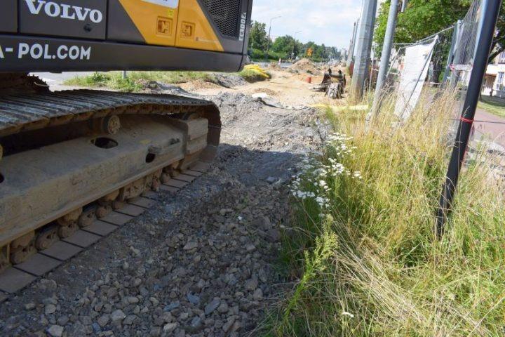 Przebudowa torowiska tramwajowego w alejach Kościuszki i Wolności