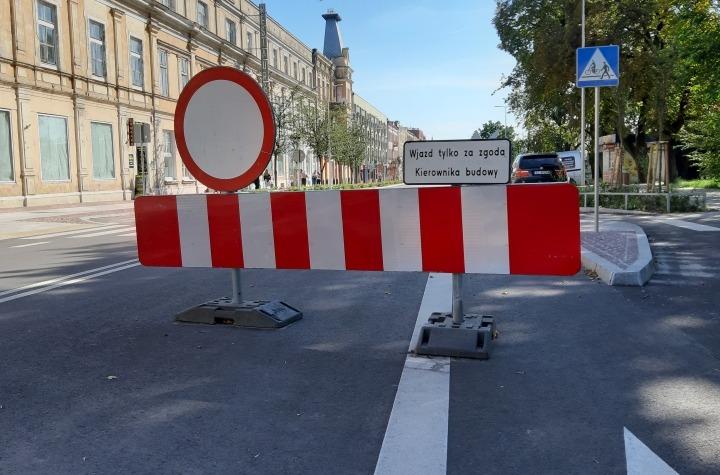 Ulica Piłsudskiego z problemami