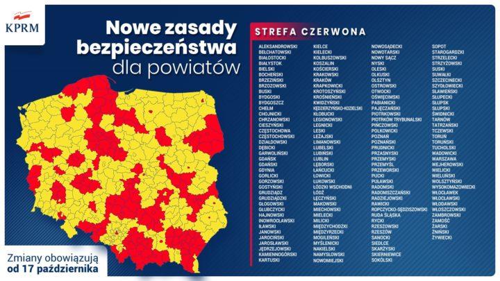 Częstochowa i powiat częstochowski w czerwonej strefie!