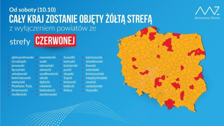 Cała Polska w żółtej strefie