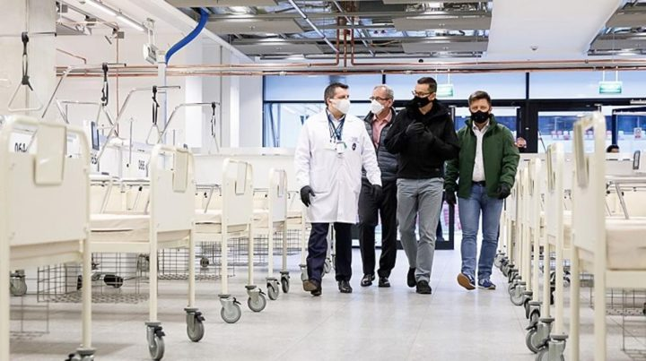 Szpital tymczasowy w Katowicach gotowy za trzy tygodnie