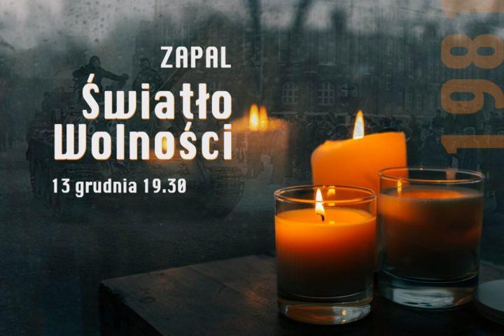 """13 grudnia – dzień modlitw za ofiary stanu wojennego i akcja """"Zapal Światło wolności"""""""