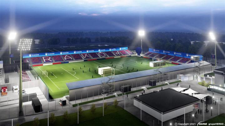 Skromny stadion Rakowa – wizualizacje nowego obiektu