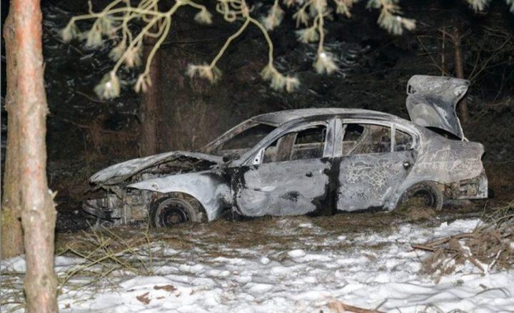 Samochód spłonął. W środku znaleziono zwłoki