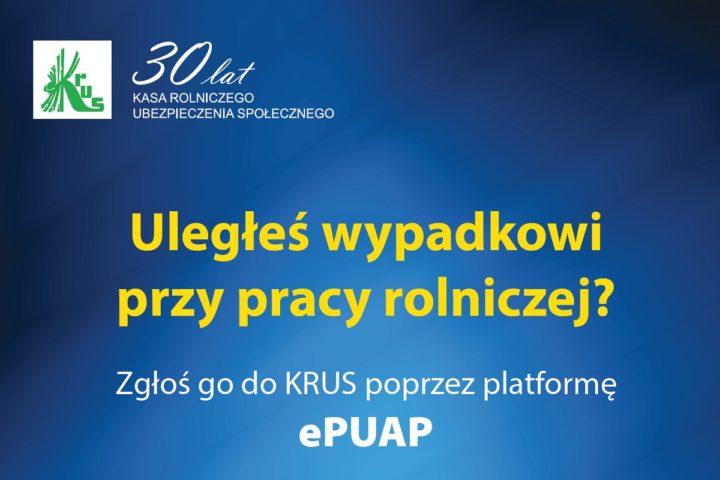 KRUS: Zgłoszenie wypadku możliwe też przez ePUAP